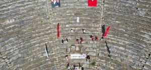 Nysa Antik Kenti'nde, 2 bin yıl sonra satranç oynandı