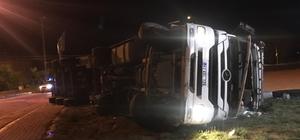 Afyonkarahisar'da devrelin tırın sürücüsü hayatını kaybetti