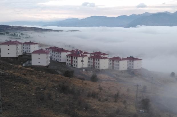 Kelkit vadisinde sis denizi oluştu Sivas'ta Kelkit vadisinde oluşan sis denizi görenleri kendine hayran bıraktı