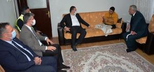 MHP Grup Başkan Vekili Bülbül ve Başkan Babaoğlu, patlamadan yaralı kurtulan sürücüyü ziyaret etti
