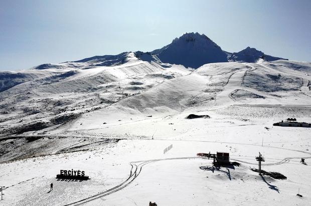 """Erciyes'te kar kalınlığı 15 santime ulaştı, zirve beyaza büründü Erciyes'te yeni sezon heyecanı Erciyes A.Ş. Genel Müdür Yardımcısı Zafer Akşehirlioğlu: """"Avrupa'daki kısıtlamaların devam etmesi bizim için bir şans olacak"""""""