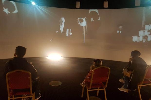 Atatürk 10 Kasım'da Dijital Gösterim Merkezi'nde anılıyor