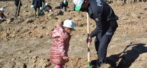 Şehitler diyarı Sarıkamış'ta 'Geleceğe Nefes' için 11 bin fidan toprakla buluştu