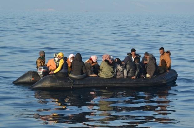 İzmir'de 46 düzensiz göçmen kurtarıldı