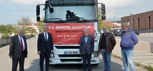 Hendek Belediyesinden deprem bölgesine su yardımı