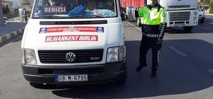 Buharkent'e toplu taşıma araçları denetlendi