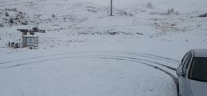 Denizli güne kar fotoğrafları ile uyandı Denizli'ye ilk kar düştü