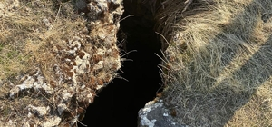 Eğil'de hayvanların içine düştüğü su kuyuları beton bloklarla kapatıldı