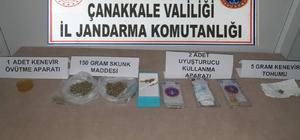 Bayramiç'te uyuşturucu operasyonu: 2 gözaltı