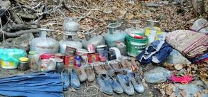 Hizan'da terör operasyonunda tüp ve yaşam malzemeleri ele geçirildi