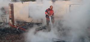 Türkeli'de iki katlı evde yangın