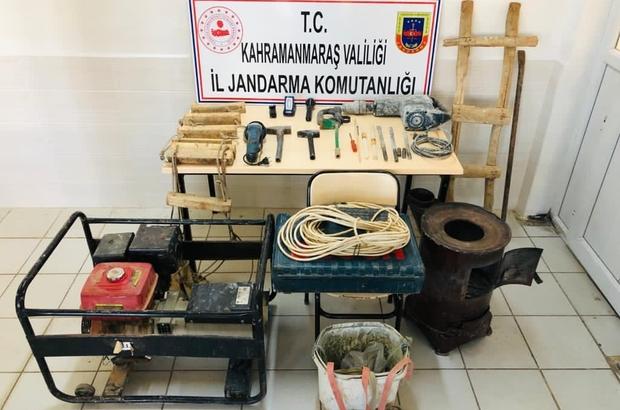 Kahramanmaraş'ta kaçak kazı yapan 4 kişi suçüstü yakalandı
