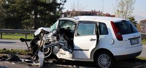 Duble yolda meydana gelen kazada ilginç detay: Kazadan birkaç dakika önce radara girmiş Kontrolden çıkarak karşı şeride geçen otomobil kaza öncesi radara girdi