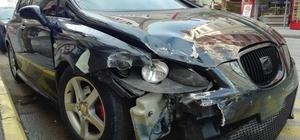 Kırmızı ışık ihlali kazaya neden oldu