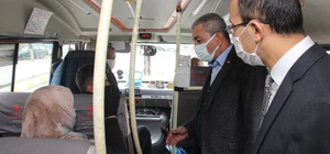 Koçarlı'da toplu taşıma araçlarında Korona virüs denetimi yapıldı