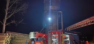 Kereste fabrikasında yangın Fabrikanın silosunda çıkan yangın kısa süre içerisinde söndürüldü