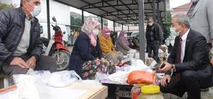 Başkan Kaplan haftaya pazar ziyareti ile başladı
