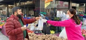 Başkan Öndeş'ten pazar esnafına sıcak çorba ikramı