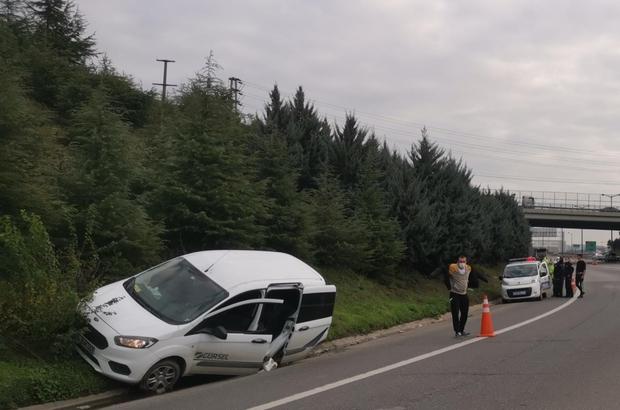 Anadolu Otoyolu'nda beyin kanaması geçiren sürücü kaza yaptı