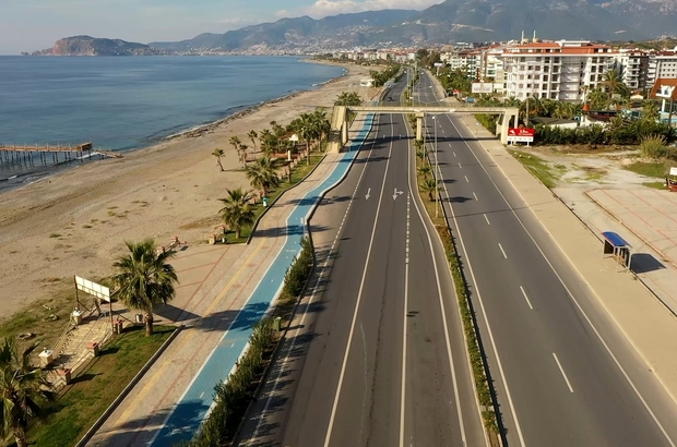 Alanya'da sahil bandı bisiklet yolunun Kestel etabı tamamlandı
