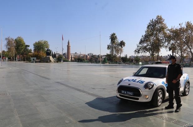Antalya kısıtlamada sessizliğe büründü