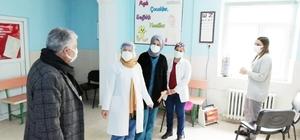 Başkan Karamehmetoğlu'ndan sağlık çalışanlarına moral ziyareti