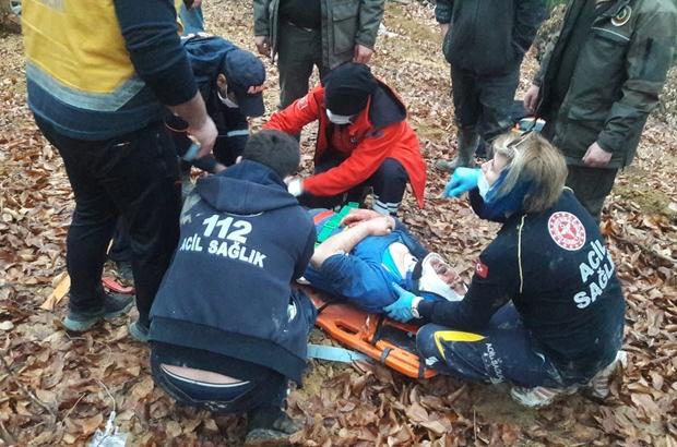 Ormanlık alanda yaralandı, imdadına UMKE yetişti