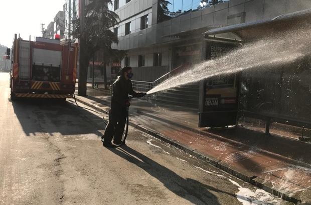 Manisa sokakları dezenfekte ediliyor