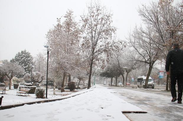 Elazığ güne karla uyandı