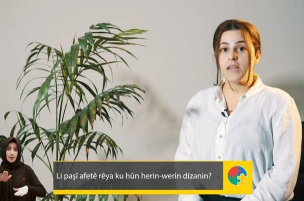 Arapça ve Kürtçe afet bilinci anlatılıyor