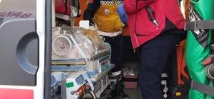 Ambulans uçak Trabzon'dan İstanbul'a bebek için havalandı