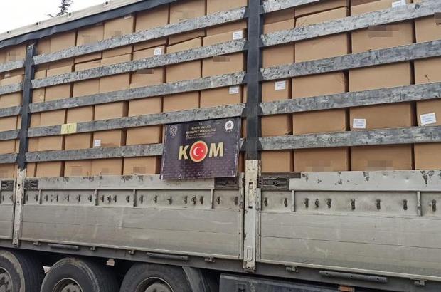 Konya'da 9 ton 230 kilogram kaçak tütün ele geçirildi