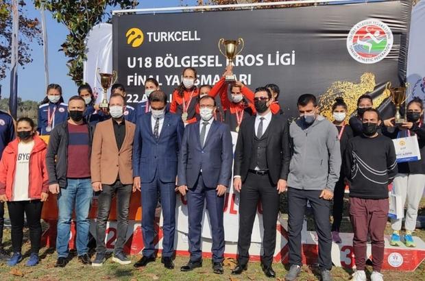 Kros Ligi Kadınlar müsabakalarında Talas Süleymanlı Türkiye üçüncüsü