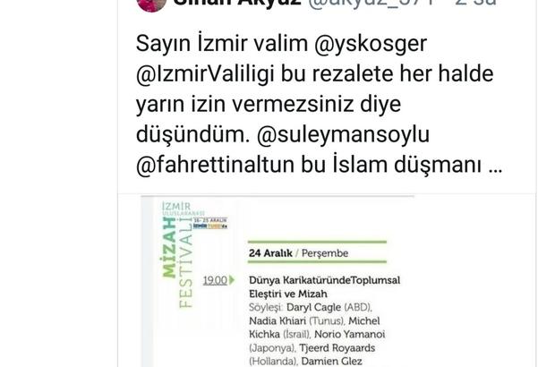 Vali Köşger duyurdu: İzmir'de tepki çeken program iptal edildi