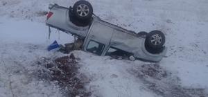 Buzlanan yollar kazaya neden oldu