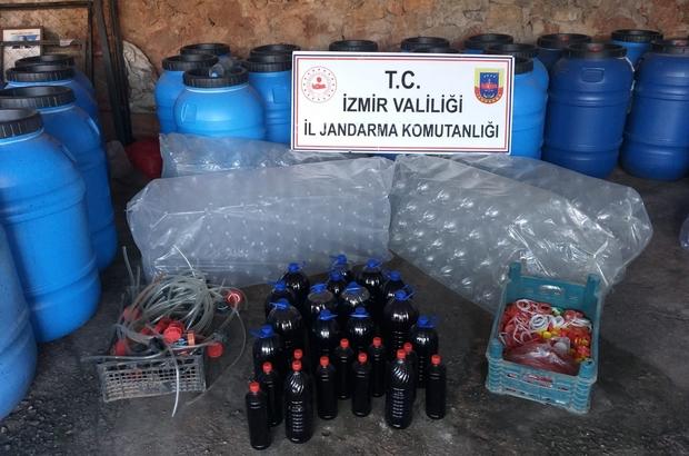 İzmir'de 11 bin 200 litre sahte içki ele geçirildi