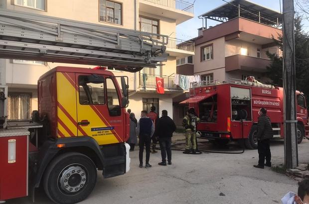 Korkutan yangın, bir kişi dumandan zehirlendi