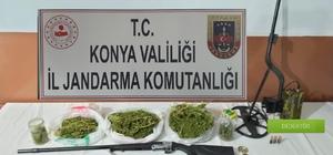 Konya'da 848 gram esrar ele geçirildi