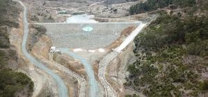 Eskişehir Mihalıççık Güreş Göleti'nde su tutulmaya başlandı Proje maliyeti 11 milyon 400 bin lira olan gölette birikecek 530 bin metreküp suyla bin 110 dekar tarım arazi sulanacak