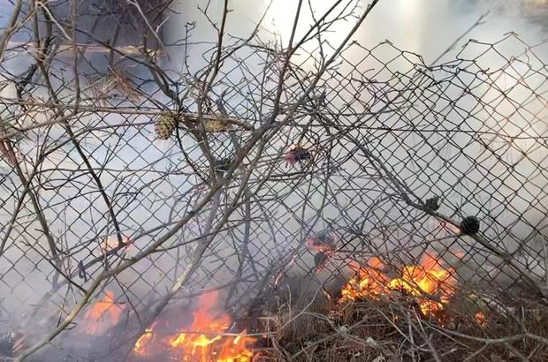 Çanakkale Radar Tepesinde korkutan yangın