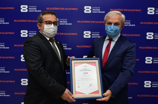 """Eskişehir OSB'de """"TSE Covid-19 Güvenli Hizmet Belgesi"""" alan ilk firma"""