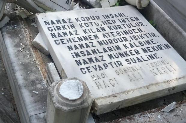 """Mezarlıklara zarar verdi, Türk bayraklarını söktü, """"Moralim bozuktu"""" dedi Gözaltına alınan şüpheli tutuklandı"""