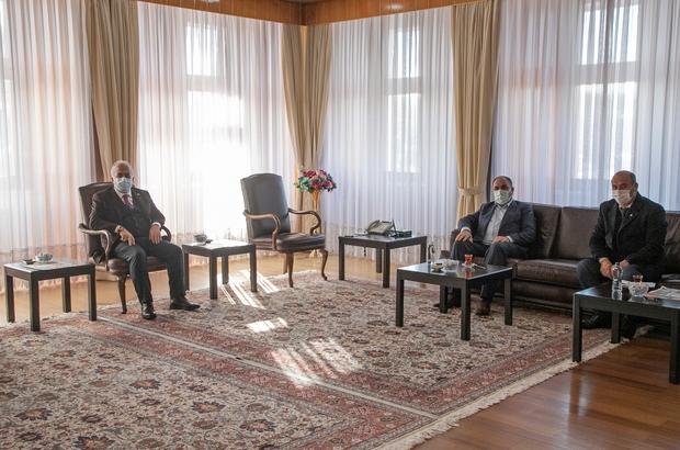 İlçelerle iş birlikleri güçleniyor Köprüköy Belediye Başkanı Belli'den Rektör Çomaklı'ya ziyaret