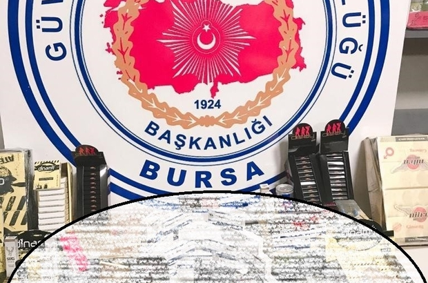 Bursa polisinden 1,5 milyon liralık uyarıcı ilaç baskını