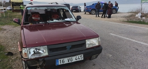 Arızalanan kamyonun şoförüne otomobil çarptı Otomobil sürücüsü göz yaşlarına hakim olamadı