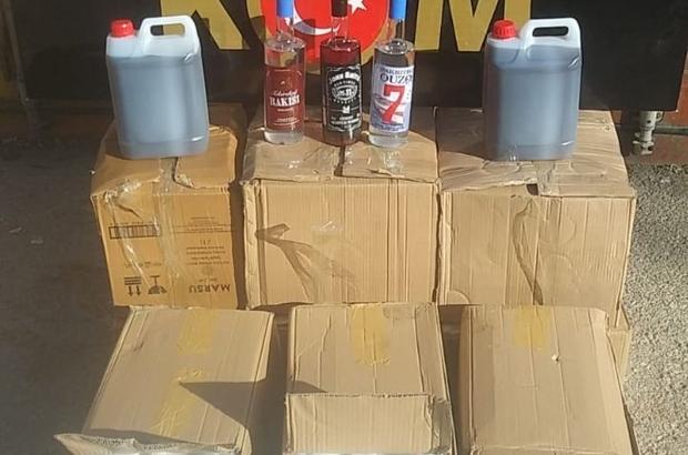 Gaziantep'te 111 şişe sahte alkol ve 90 litre dökme içki yakalandı