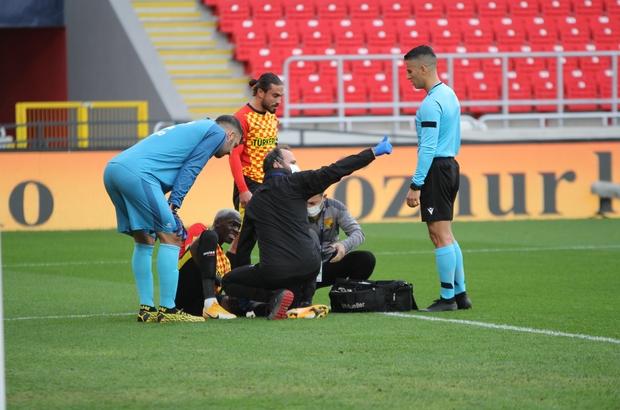 Süper Lig: Göztepe: 1 - Fatih Karagümrük: 0 (İlk yarı)