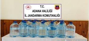 Adana'da 120 litre kaçak içki ele geçirildi