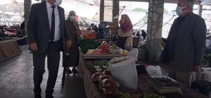 Başkan İnal mesaisine pazar ziyareti ile başladı