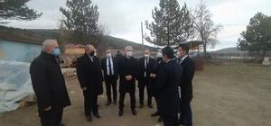 Vali Çakır, Daday'da incelemelerde bulundu
